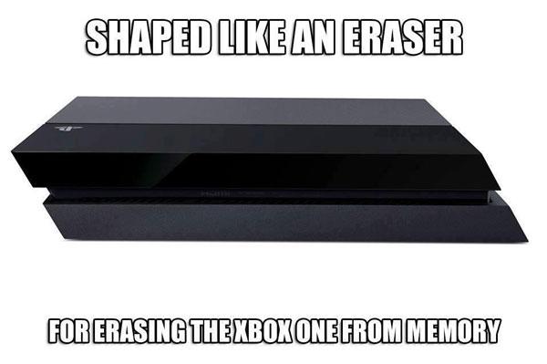 Ένα από τα αστειάκια που κυκλοφορούν στα ίντερνετς, περί «εξουδετέρωσης» του Xbox One από το PS4! :P