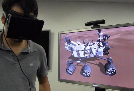 Μια βόλτα στον πλανήτη Άρη με τη βοήθεια του Oculus Rift