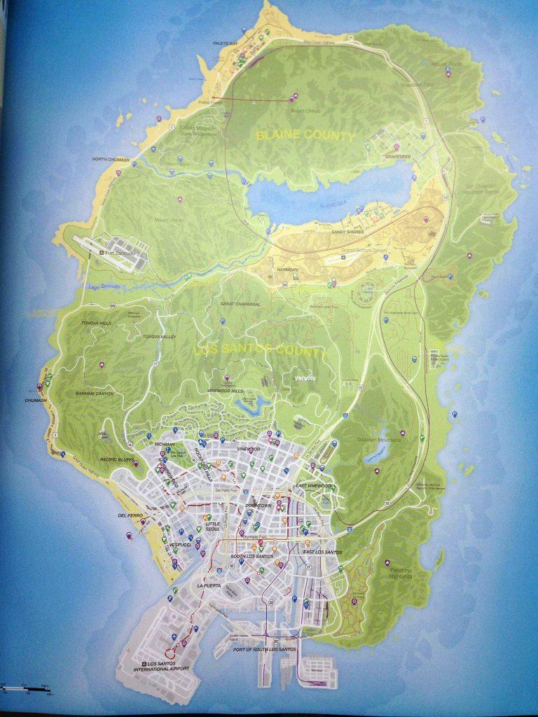gta v los santos map