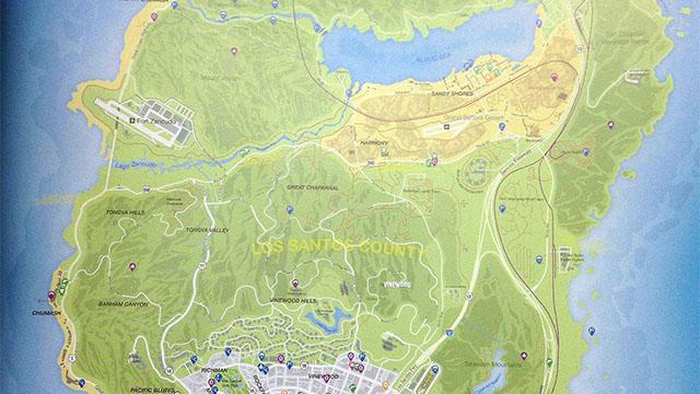 Διέρρευσε ο -τεράστιος- χάρτης του GTA V