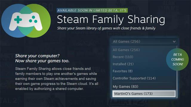 Μοιράσου τα παιχνίδια σου στο Steam χάρη στη νέα του υπηρεσία!