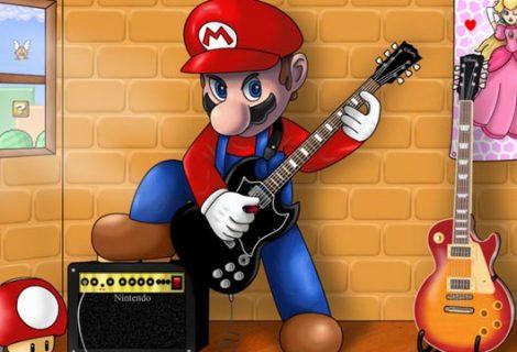 Ένας τύπος ντύθηκε Mario και βγήκε στο δρόμο με την κιθάρα του