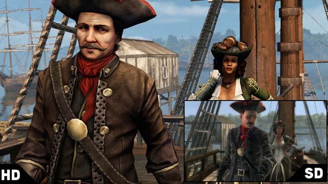Σύγκριση γραφικών του Assassin's Creed: Liberation HD με τη φορητή έκδοση
