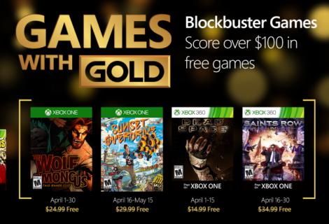 Τα δωρεάν παιχνίδια Απριλίου του Xbox Live Gold