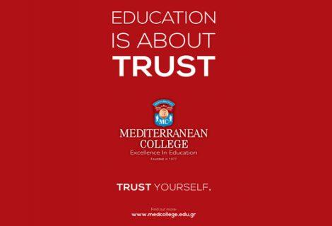 Mediterranean College – Αυτή τη φορά εμπιστεύσου τον εαυτό σου!