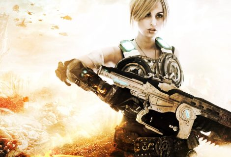 Σούπερ δυνατό Anya cosplay από το Gears of War 3!
