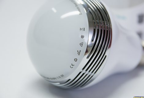 Έξυπνη πολύχρωμη λάμπα LED 6W με Bluetooth και ηχείο