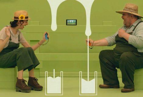 """Η PETA επιτίθεται στη Nintendo για το """"Milk"""" mini-game του 1-2-Switch!"""