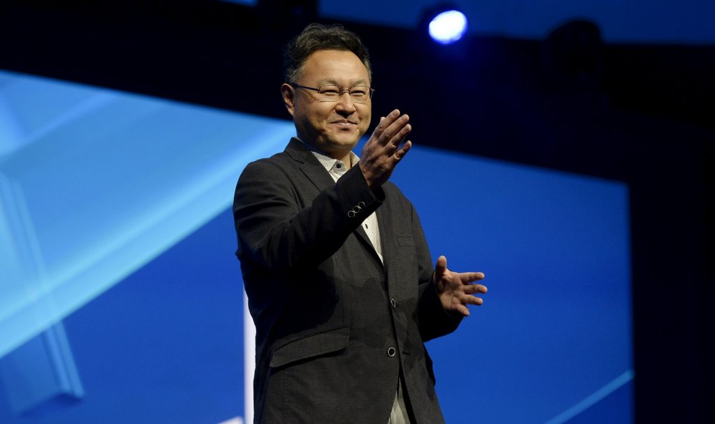 Shuhei Yoshida, President of Sony's Worldwide Studios for Sony Computer Entertainment, speaks during the Sony Playstation E3 conference in Los Angeles