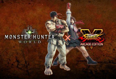 Monster Hunter World: έρχονται οι Ryu & Sakura από το Street Fighter V!