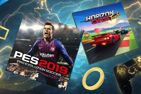 Με Pro Evolution Soccer 2019 & Horizon Chase Turbo το PlayStation Plus!