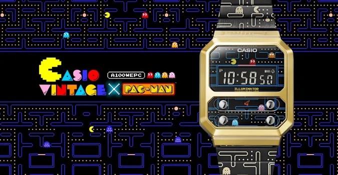 """Casio: Νέα """"old-school"""" έκδοση του A100 digital watch, αφιερωμένη στον Pac-Man!"""